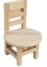 cheap and best selling wooden crafts wooden mini chair cell phone holder