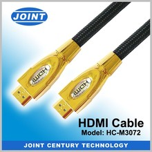 New 2.0 metallic hdmi cable with 24K gold plated support 4K*2K,1080P,3D