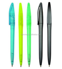 Cheap promotional plastic twist ball pen, silm ball pen