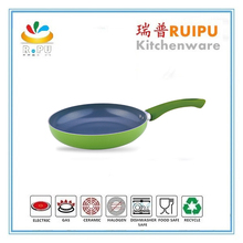 2015 kitchen appliances the new design die - casting sky blue open fry pan ceramic fry pan with small star bottom