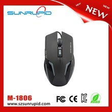 Mini wired 3 color backlit 6d gaming mouse black