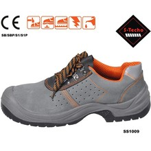 Genuine leather and pu injection nice safety shoe export to global
