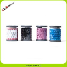 Folding Silicone Rubber Bluetooth Keyboard for ipad air for ipad mini