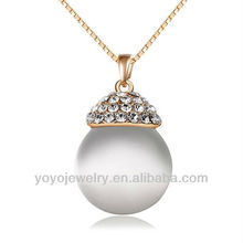 Special design cat eye stone pendant hip hop wedding necklaces design