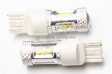 600lm высокие люмен ошибка бесплатный 12 - 24 В ac одного контакта 3156 / BA15S / 7440 высокой мощности из светодиодов 80 Вт автомобиля из светодиодов включите свет заднего хода