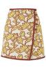 Floral Wrap High-Waisted Skirt