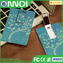 Animal printing promotional USB Flash drive Of Credit Card Fits In Wallet