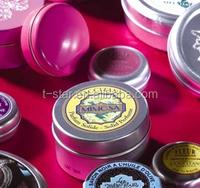 cute round shape tin boxes/cheap mini promotion tin can