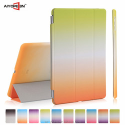 High Quality Tripled Folded Gradient Color Flip Cover Smart Awakening Case Housing for iPad Air for iPad 5