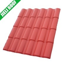 Load bearing plastic colorful decorative pvc house roof Roma style