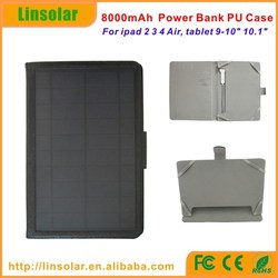 2015 new innovative 8000mAh solar power battery charger case for ipad tablets