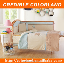 Baby bed 7pcs embroidery comforter set pillow sleeping bag bedsheet set