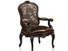 Dark Color Antique Dining Table, Classic Dining Room Arm Chair