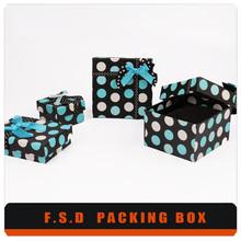 Polka Dot Decorative Wedding Gift Box, Gift Box with Lid
