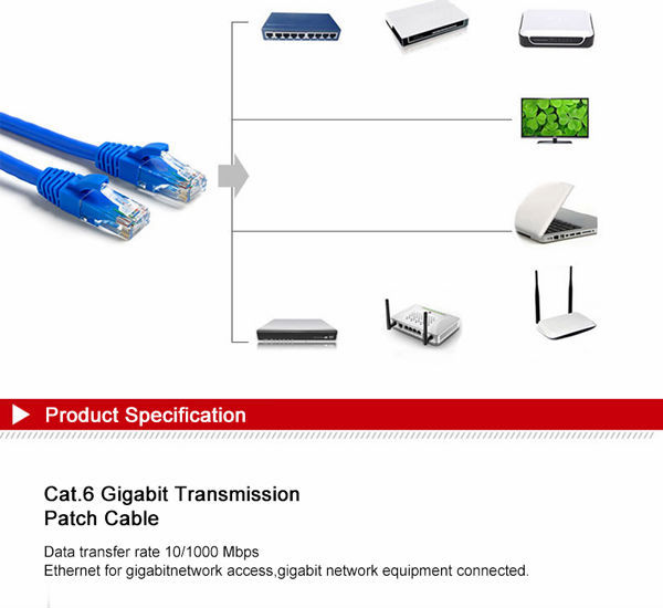 Tengfei Cat6 Rj45 Patch Cord Cat 6 Utp Patch Cable Solid