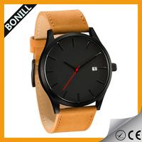 Customized logo MVMT leather quartz watch, MVMT watch,mvmt japanese quartz watch