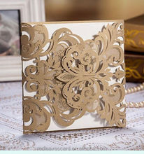 Red Leaves Best selling Design Leaves Laser Cut Wedding Invitation Card/ IC1402-12( laser cut color can be customized)