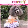 Orange color pet clothes display fashion pet clothes for dogs