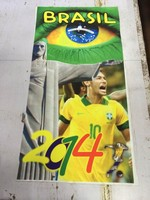 stock Microfiber Thermal brasil football star transfer printing beach towel