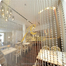 High quality hanging living room brass beaded curtain for interior decoration