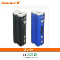 Smowell 2015 DPV-50 box mod 18650 rechargeable battery vape mod superman vape pen