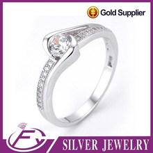 China wholesale aaa cz stone charming style sterling silver s925 ring