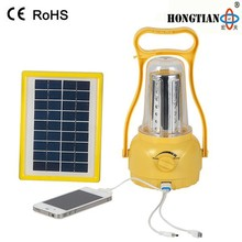 portable led solar light solar lantern with mobile phone charger