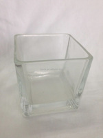WHOLESALE SQUARE GLASS CANDLE HOLDER