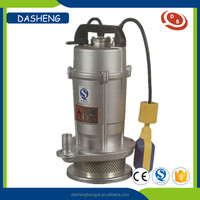 QDX series electric single phase submersible water pump with float