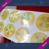 Demetallization effect gold color hologram label
