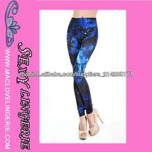 ML7613 Mujeres atractivas apretadas tela de la impresión galaxia