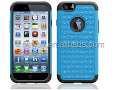 High Quality Bling Diamond Silicone Case Cover for 4/4S/5/5S/6/6Plus