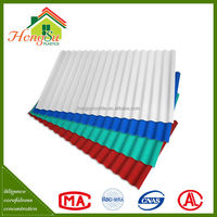 Competitive price long term color stability one layer pvc roof sheet