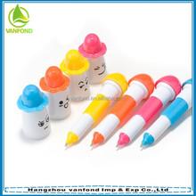 Best popular novel design colorful plastic ball pen for children