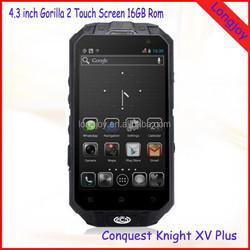 4.3 Inch Corning Gorilla Glass IP68 Waterproof Shockproof Phone 16GB ROM 13.0MP Cameras Dual SIM Android Phone