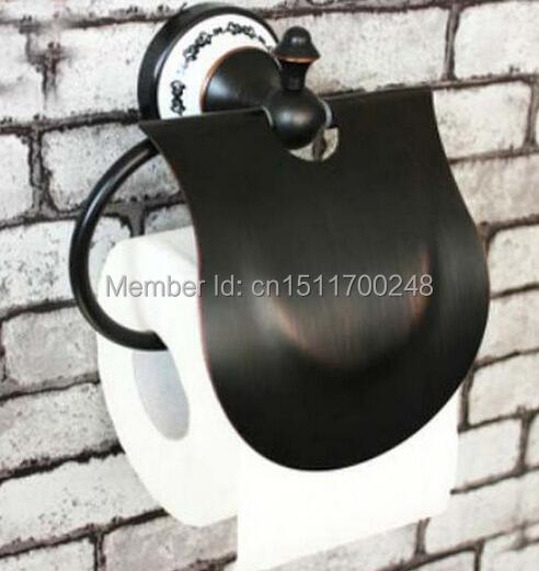 Купить Ванная комната Масло Втирают Бронзовый Настенные Держатель Для Туалетной Бумаги