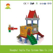 Children park products castle style indoor kids plastic slides