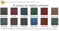 color asphalt tiles for roof beauty and waterproofing