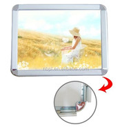 cost effective snap frame aluminum massage board A2 poster frame silver wall hanging clip frame