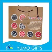 2016 korea style brown kraft paper shopping bag manufacturer