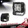 super heavy duty mount 40w led driving light for mining ,machine ,atv ,utv offroad use