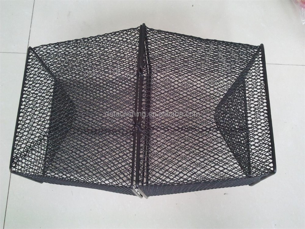 Commercial wire mesh fish lobster trap view