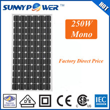 250w best price mono solar panel for home solar generator solar energy systems with VDE/CSA/IEC/CE