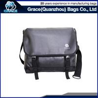 OEM leisure stylish wide strap tarpaulin waterproof messenger bag