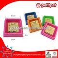 Plástico redondo admiten tazón / colorido con dos pesebres bajos admiten tazón
