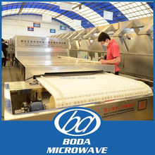 microwave conveyor dryer for mushroom