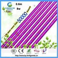 2015 Hot new design CE,ROHS,SAA certificate 60cm 8w t8 plant grow led light for fruits