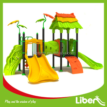 New Commercial Kids Outdoor Playground Designs for Preschoolers with Double Slides LaLa Forest LE.LL.042