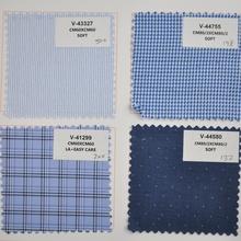Soft finishing European design fancy broadcloth shirt fabric
