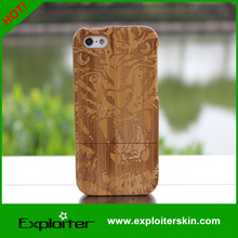 engraving case bamboo for apple iphone 4/5/5s